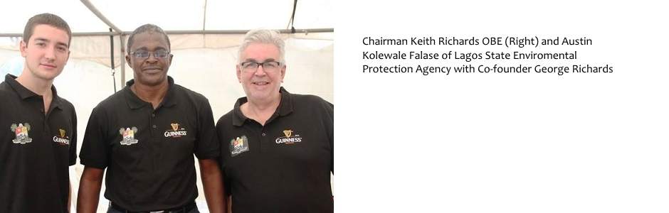 Chairman Keith Richards OBE & Austin Kolewale Falase if Lagos State Environment Protection Agency